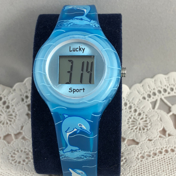 Lucky by Dingbats Other - Dolphins and Summer Lucky Sport Childs Watch